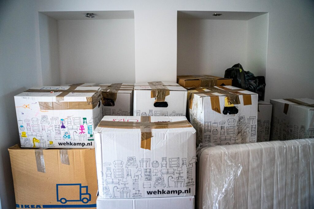 boxes prepared for moving